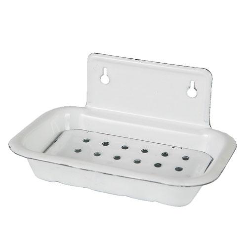 ENAMELED SOAP DISH (WALL)