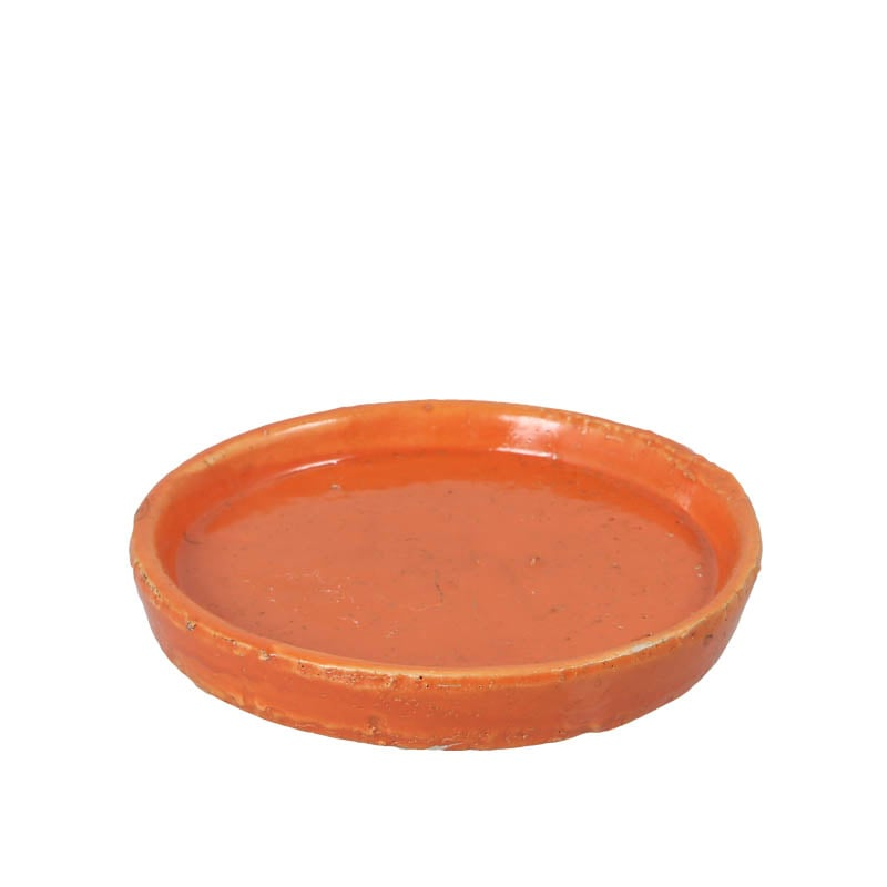 COLOR GLAZED SAUCER ORANGE