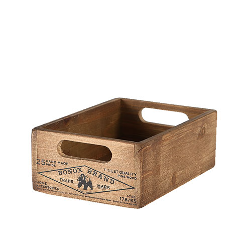 WOODEN STOCKER BOX  NATURAL