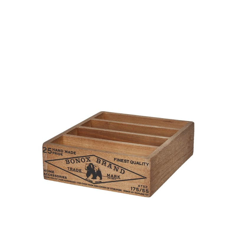 WOODEN BOX FOR POSTCARDS  NATURAL