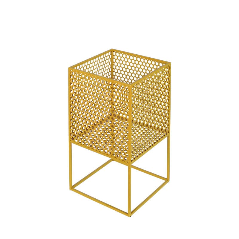 HONEYCOMB MESH PLANTER STAND S YELLOW