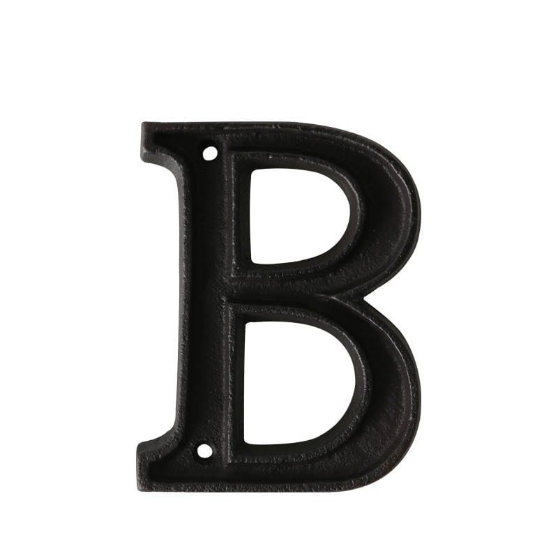 "METAL LETTER ""B"" MATT BLACK"