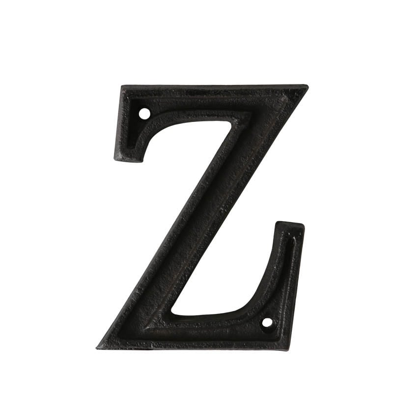 "METAL LETTER ""Z"" MATT BLACK"