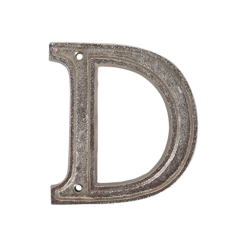 "METAL LETTER 105 SILVER ""D"""