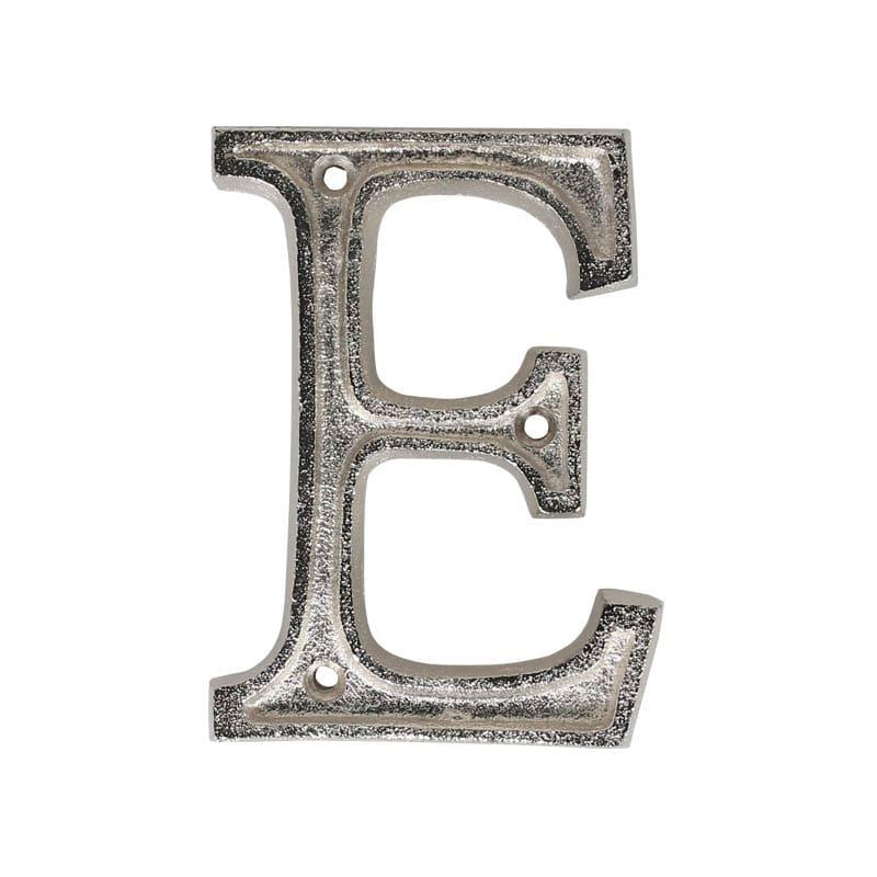 """METAL LETTER 105 SILVER """"E"""""""