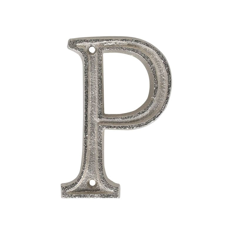 """METAL LETTER 105 SILVER """"P"""""""