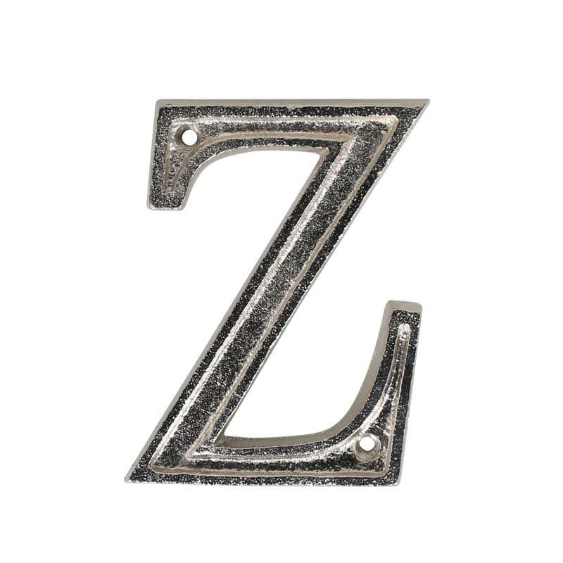 "METAL LETTER 105 SILVER ""Z"""