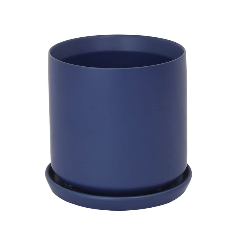 CERAMIC POT 18 BLUE