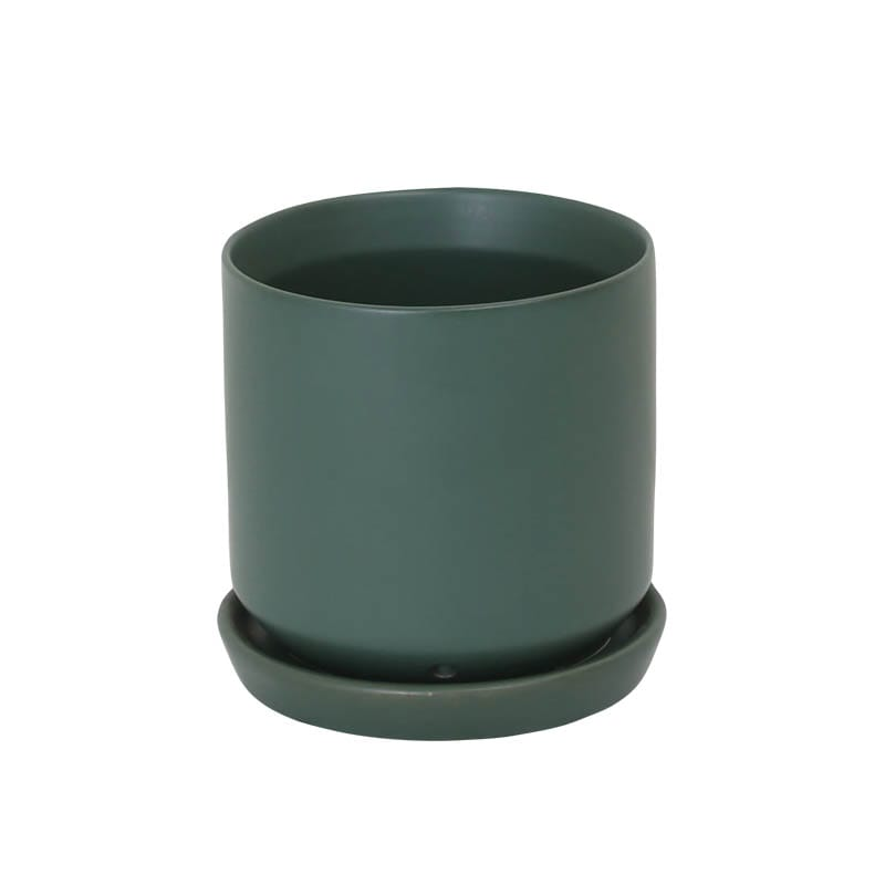 CERAMIC POT 12 GREEN