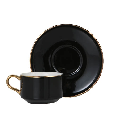 CUP & SAUCER Numelo 1 BLK