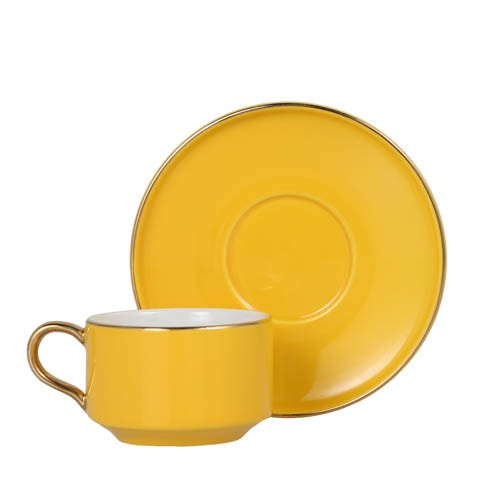 CUP & SAUCER Numelo 1 YEL