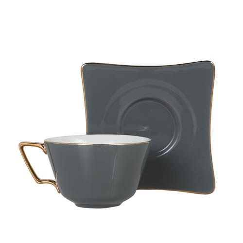 CUP & SAUCER Numelo 3 GRAY