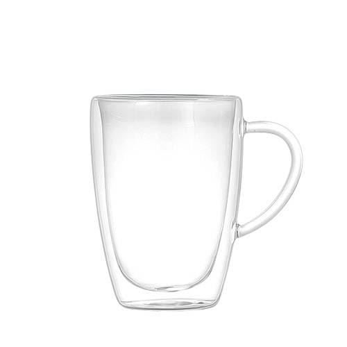 DOUBLE WALL GLASS MUG 350ml