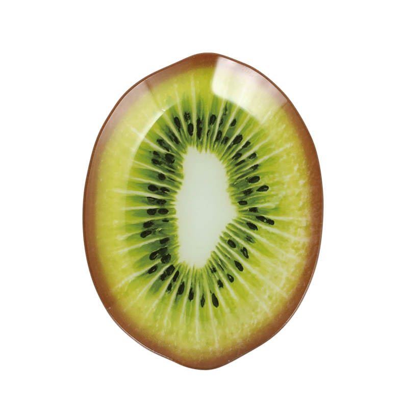 GLASS FARMER PLATE KIWI