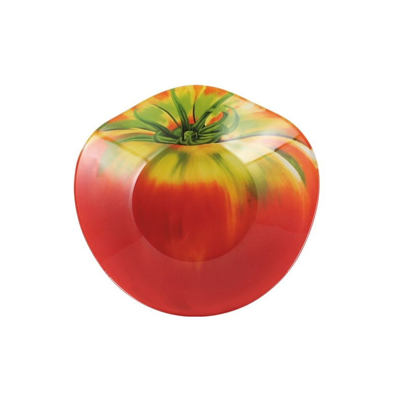 GLASS FARMER PLATE TOMATO