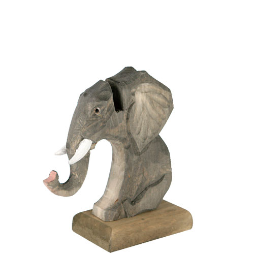WOODEN GLASSES HOLDER SAFARI  ELEPHANT
