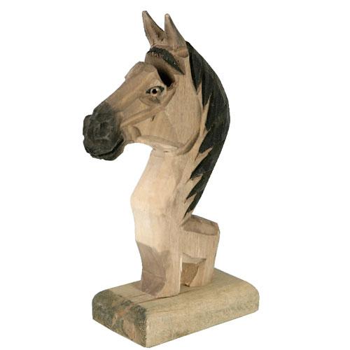 WOODEN GLASSES HOLDER  HORSE