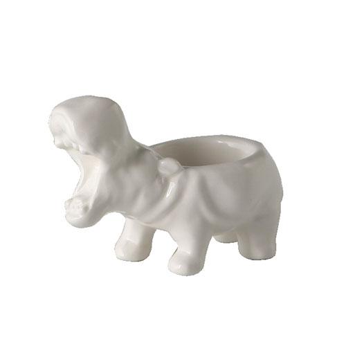 HIPPO TEA LIGHT HOLDER  WHITE