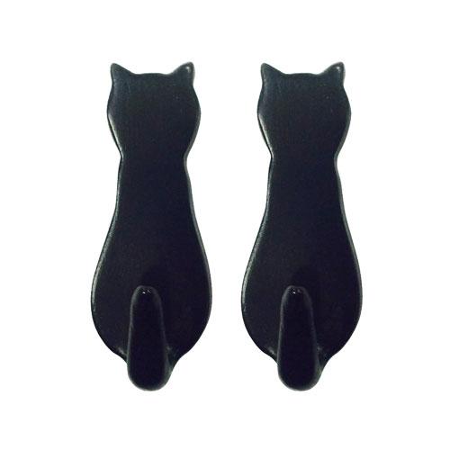 CAT MAGNET SET OF 2 BLACK