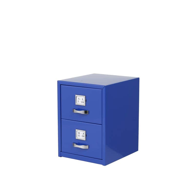 METAL CARD CABINET BLUE