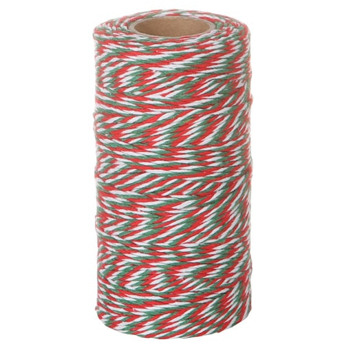 TWISTED STRING WHITE/RED/GREEN