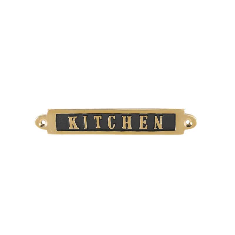 "BRASS SIGN ""KITCHEN"""