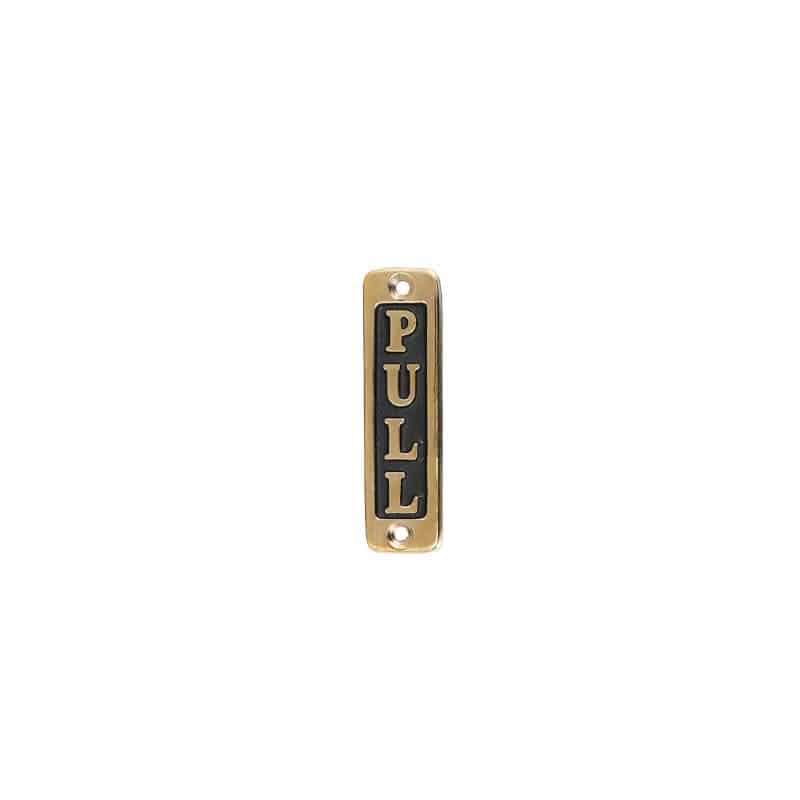 """BRASS SIGN  """"PULL"""" TYPE-2"""