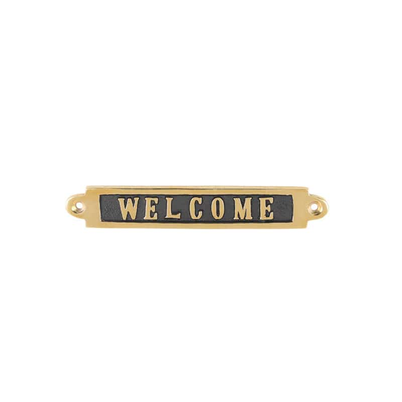 "BRASS SIGN ""WELCOME"""