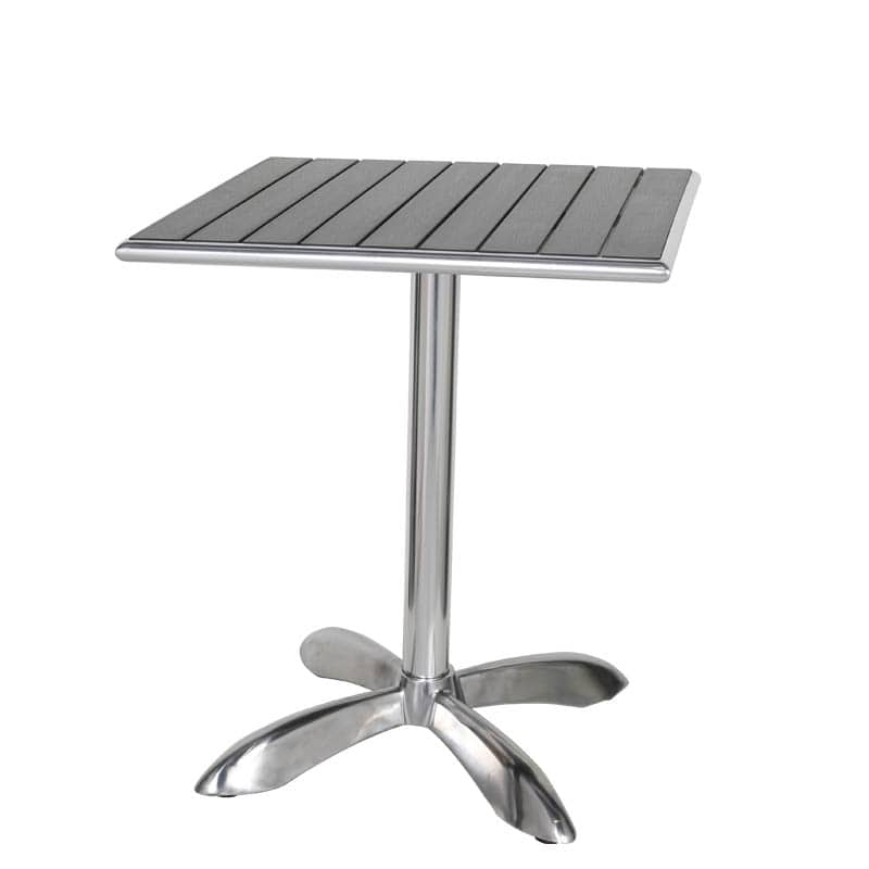 ALUMINUM CAFE TABLE SQ BK