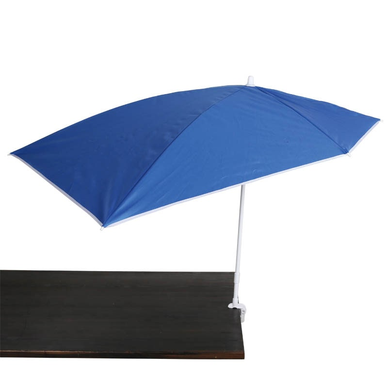 CLAMP BEACH UMBRELLA BLUE