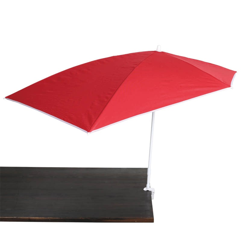 CLAMP BEACH UMBRELLA RED