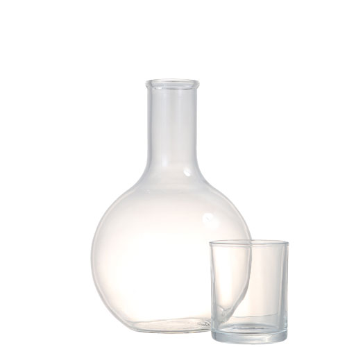 BALL CARAFE w/CUP 2L