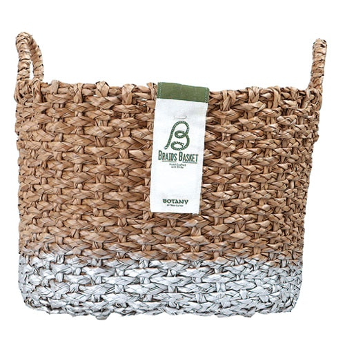OVAL BRAIDS BASKET SLV-L