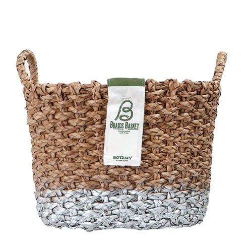 OVAL BRAIDS BASKET SLV-M