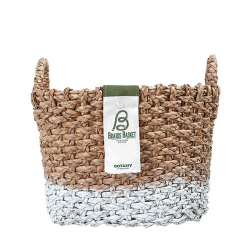 OVAL BRAIDS BASKET WHT-M
