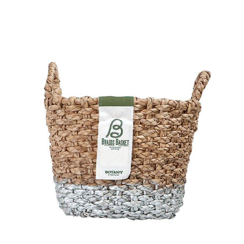 OVAL BRAIDS BASKET SLV-S