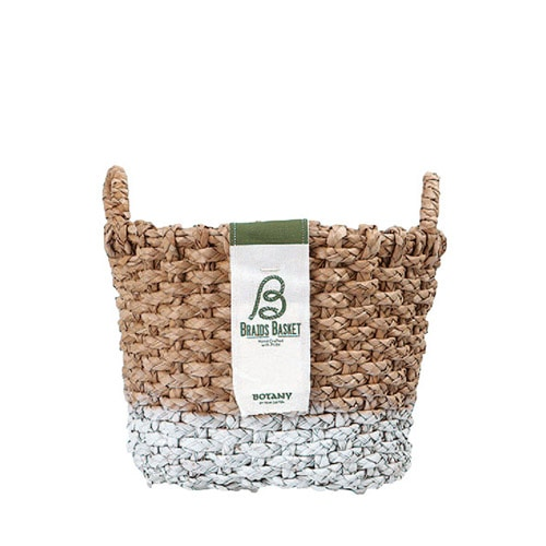 OVAL BRAIDS BASKET WHT-S