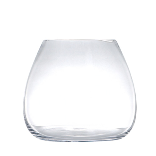 GLASS VASE PLUMP L
