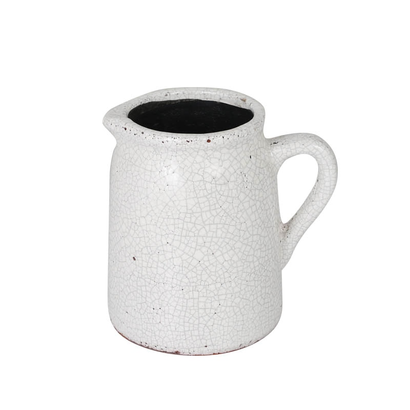 GLAZED JUG WHITE
