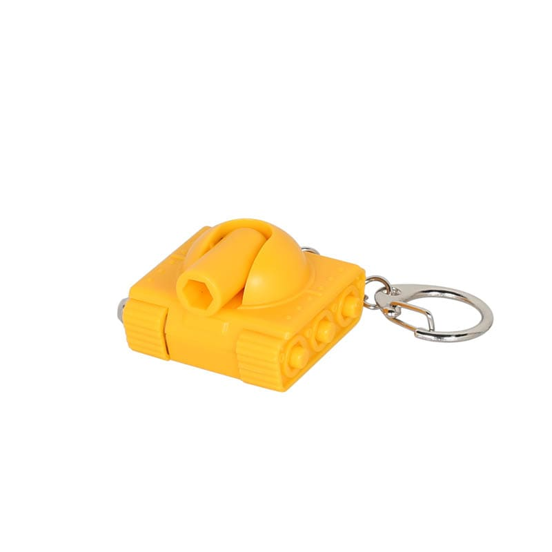 TOOL KEY CHAIN ''TANK'' YELLOW