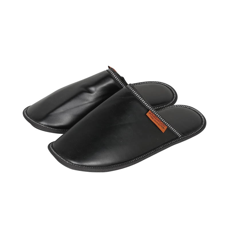 PU SLIPPERS MEN_BLACK