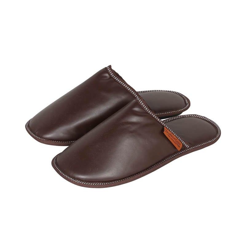 PU SLIPPERS MEN_BROWN