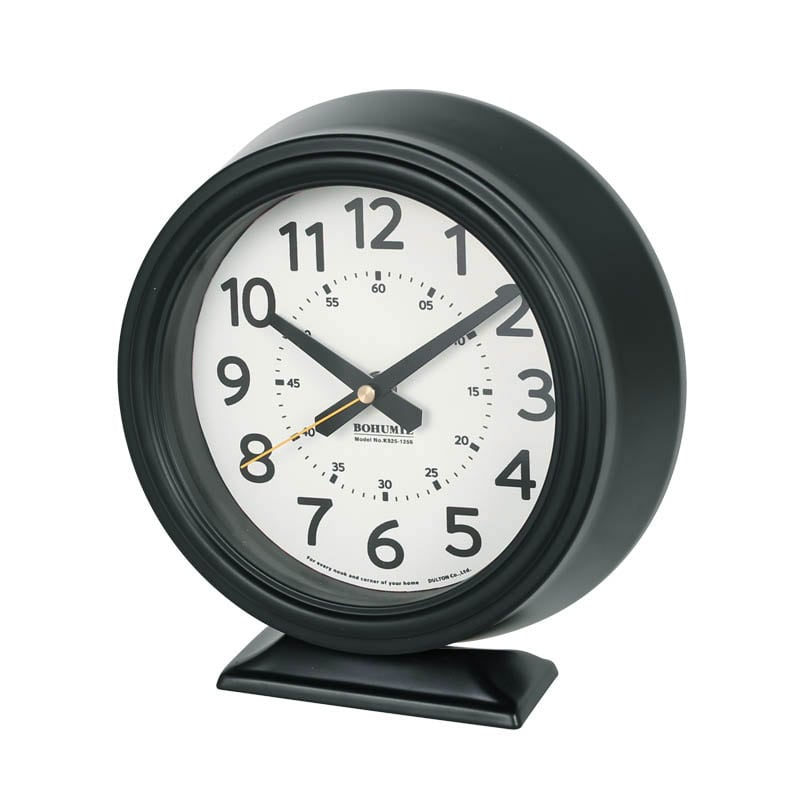 BOHUMIL CLOCK BLACK