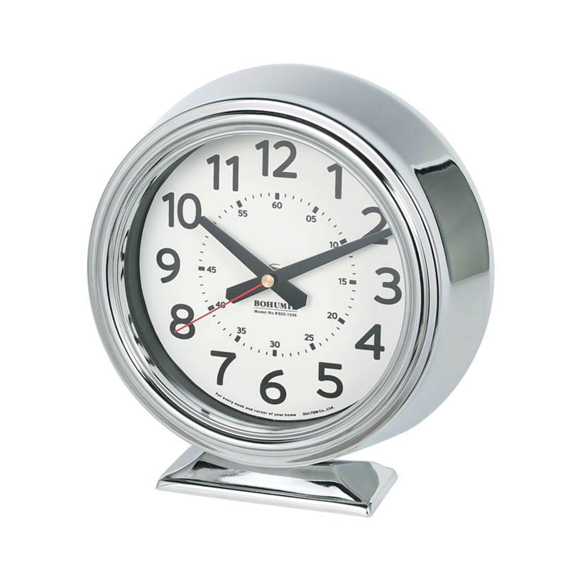 BOHUMIL CLOCK CHROME