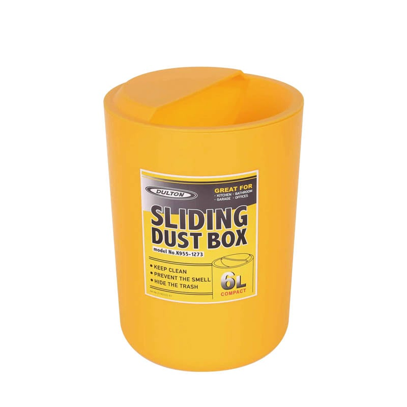 SLIDING DUST BOX YELLOW