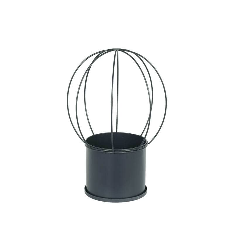 VINE POT ROUND GRAY