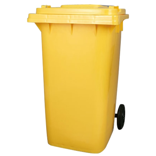 PLASTIC TRASH CAN 240L YELLOW