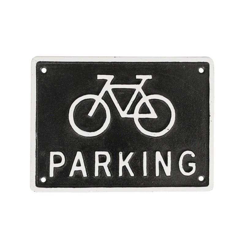 IRON SIGN ''BICYCLE PARKING'' BLACK