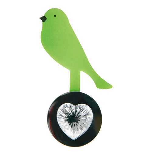 REMOVABLE MEMO HOLDER ''BIRD'' GREEN