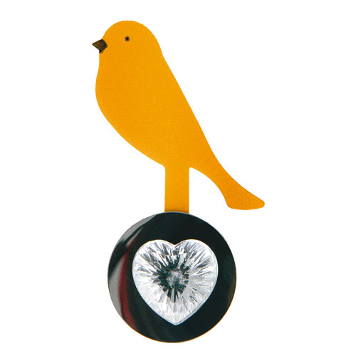 REMOVABLE MEMO HOLDER ''BIRD'' ORANGE
